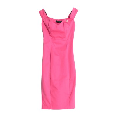 MANGANO ミニワンピース&ドレス フューシャ 38 コットン 97% / ポリウレタン 3% ミニワンピース&ドレス
