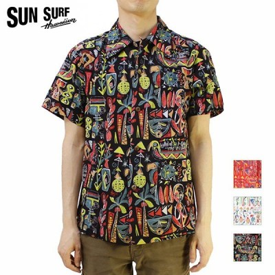 """SUN SURF(サンサーフ) アロハシャツ 2016 SPECIAL EDITION KEONI OF HAWAII """"TiKi ViLLAGE"""" by Mookie Sato SS37333"""