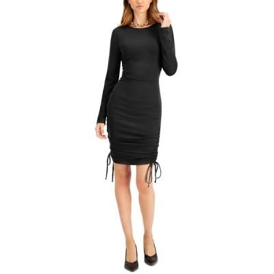 バースリー ワンピース トップス レディース Ruched Bodycon Dress, Created for Macy's Deep Black