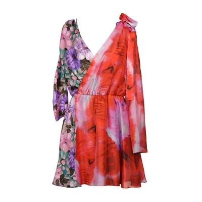 MSGM シルクドレス ファッション  レディースファッション  ドレス、ブライダル  パーティドレス レッド