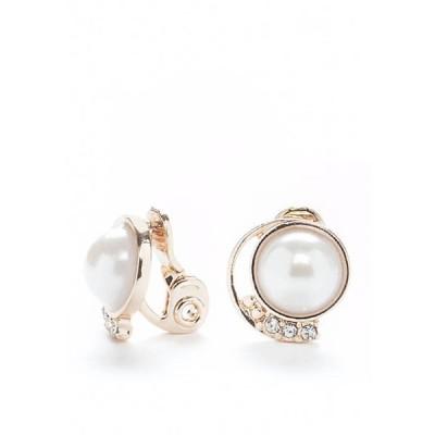 ネーピア レディース ピアス・イヤリング アクセサリー Pearl Button Clip Earrings