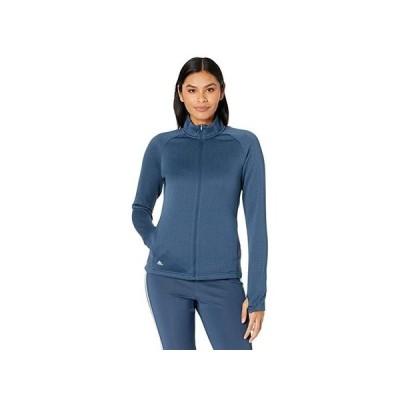 アディダス Textured Full Zip Recycled Polyester Jacket レディース コート アウター Navy