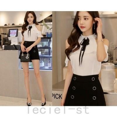ミニキュロットスカート ショートパンツ ミニ丈 無地 通勤 レディース 韓国 ファッション 黒 カジュアル