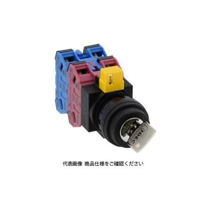IDEC(アイデック) φ22 HWシリーズ鍵操作形セレクタスイッチ 3ノッチ HW1K-3B22N2 1個(直送品)