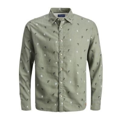 ジャック アンド ジョーンズ シャツ トップス メンズ Men's Stevie Printed Shirt Sea Spray