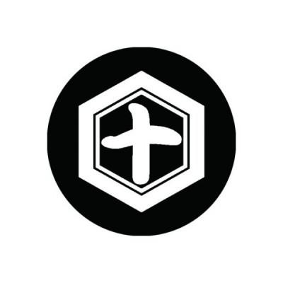 家紋シール 白紋黒地 亀甲に十文字 布タイプ 直径40mm 6枚セット NS4-0881W