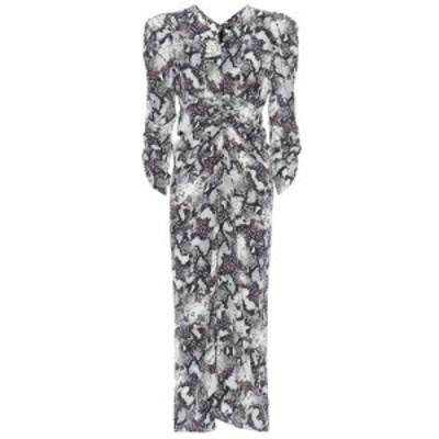 イザベル マラン Isabel Marant レディース ワンピース ミドル丈 ワンピース・ドレス Albi snake-print silk midi dress Chalk