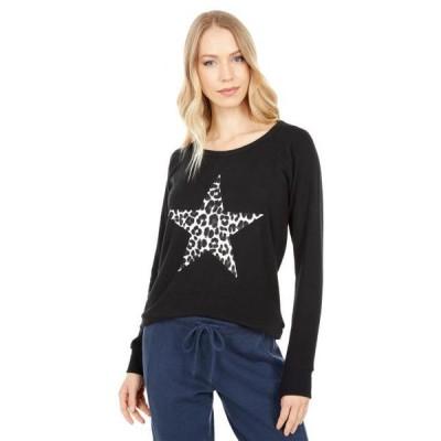 チェイサー レディース 服 パーカ/スウェット Leopard Star Bliss Knit Sweatshirt