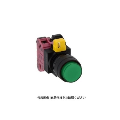 IDEC(アイデック) φ22 HWシリーズ 照光押ボタンスイッチ 丸突形 緑 HW1L-M211H2G 1個(直送品)