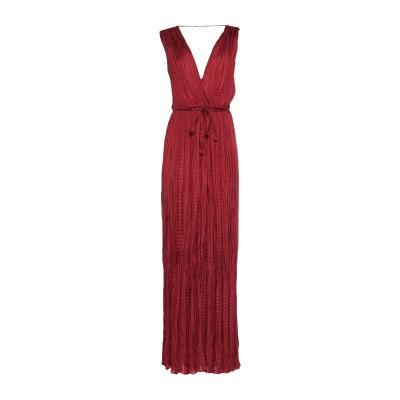 MES DEMOISELLES ロングワンピース&ドレス ボルドー 36 シルク 100% ロングワンピース&ドレス