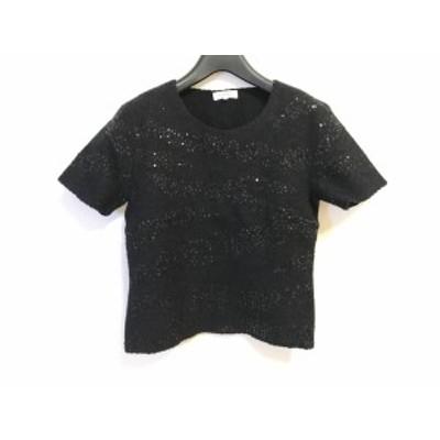 ランバン LANVIN 半袖セーター サイズ38 M レディース - ダークグレー La Collection/スパンコール【中古】20201111