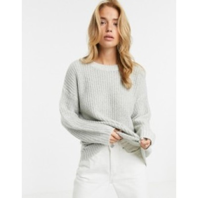 ニュールック レディース ニット・セーター アウター New Look long line sweater in gray Gray