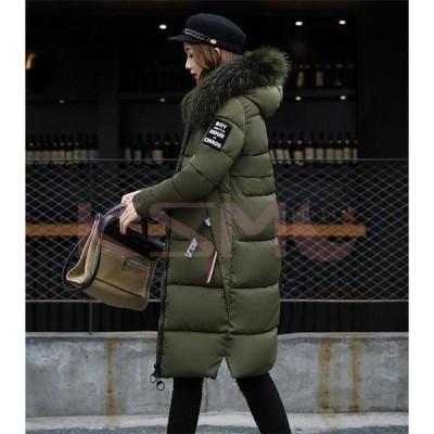 中綿ジャケット レディース ロング フード付き 中綿コート ファー 着痩せ ダウンジャケット アウター 冬 防寒 ダウンコート 2020 20代 30代 40代