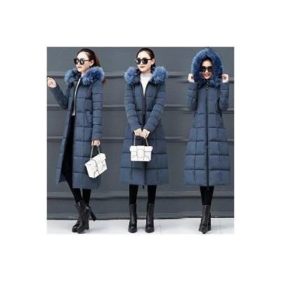 レディース ダウンコート 中綿コート 軽量 ダウンジャケット ベンチコート 大きいサイズ アウター ファー付き フード付き ロング丈 マキシ丈 暖か