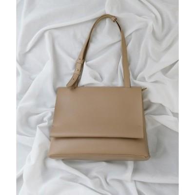 ショルダーバッグ バッグ 【CURIBISCUI】フラップ付きシンプルショルダーバッグ