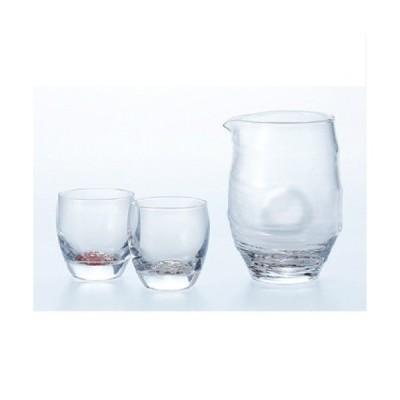 酒グラスコレクション ギフト 冷酒杯揃え(紅白梅柄) 幅173×奥行89×高さ148(mm) 3入/業務用/新品