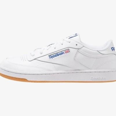 リーボック メンズ 靴 シューズ CLUB C 85 LEATHER UPPER SHOES - Trainers - white/royal