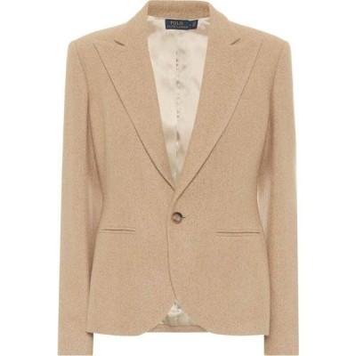 ラルフ ローレン Polo Ralph Lauren レディース スーツ・ジャケット アウター wool-blend blazer Tan Melange