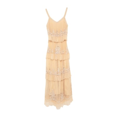 MES DEMOISELLES ロングワンピース&ドレス アイボリー 38 テンセル 70% / レーヨン 30% ロングワンピース&ドレス