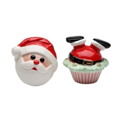 Appletreeデザイン61819サンタSalt and Pepper Set , 2   7 / 8 by 2   3 / 4 by 2   7