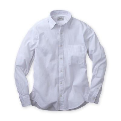 麻入りシャンブレー無地長袖カジュアルシャツ カジュアルシャツ, Shirts, テレワーク, 在宅, リモート