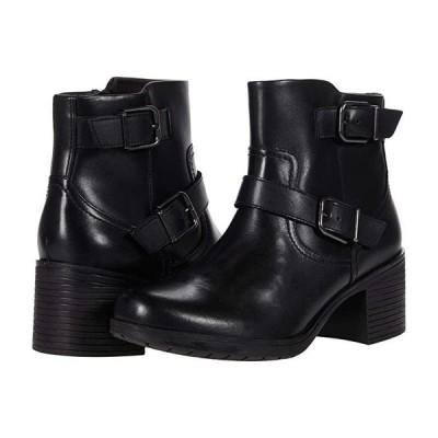クラークス Hollis Sonar レディース ブーツ Black Leather