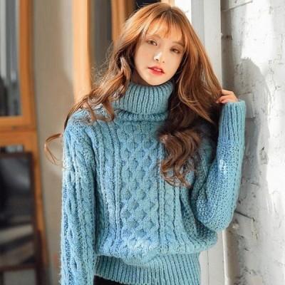 トップスレディース大きいサイズニット長袖フォーマル韓国ファッションプルオーバー