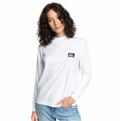 20%OFF セール SALE Quiksilver クイックシルバー ウィメンズ Tシャツ 長袖 モックネック Standard Fit ORIGINALS MOCK NECK LS デザイ