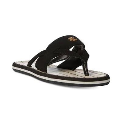 ラルフローレン レディース サンダル シューズ Rosalind Thong Sandals Black