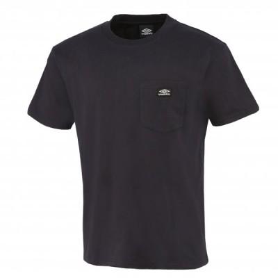 メール便送料無料 アンブロ ライフスタイル HE 半袖Tシャツ/ワンポケット ユニセックス ULURJA60-BLK
