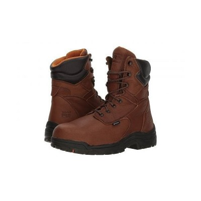 "Timberland PRO ティンバーランド メンズ 男性用 シューズ 靴 ブーツ ワークブーツ Titan(R) 8"" Waterproof Safety Toe - Cappucino Full-Grain Leather"