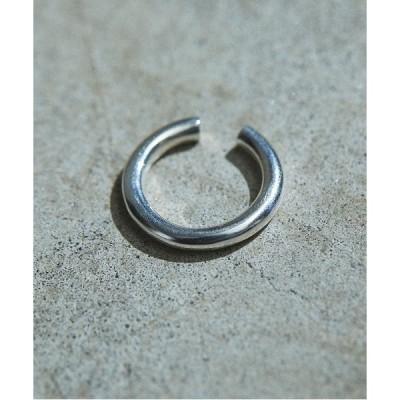 指輪 Taaii:SILVER WIDE ROUND LINE EAR RING シルバーワイド ラウンドライン イヤーリング