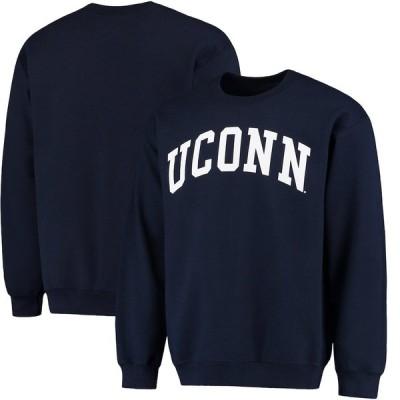 """ファナティックス メンズ スウェット """"UConn Huskies"""" Fanatics Branded Basic Arch Sweatshirt - Navy"""