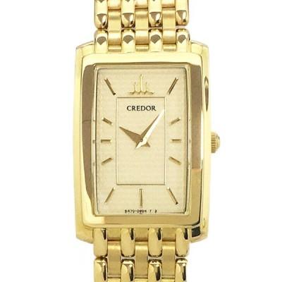 【中古】セイコー クレドール ジュリ GTWE902 K18YG イエローゴールド クォーツ ゴールド文字盤 腕時計 Juri CREDOR SEIKO