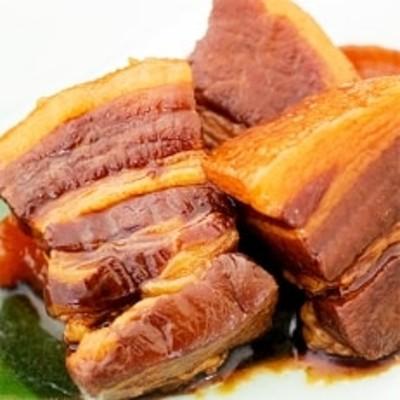 味菜自然豚豚の角煮とローストポーク