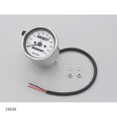 デイトナ 機械式 スピードメーター220KM SUS/WHT