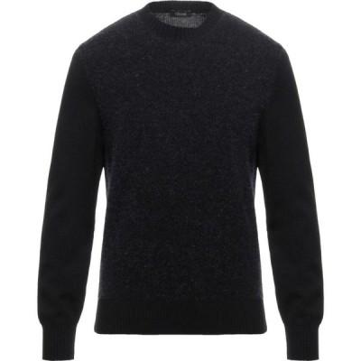 ZZEGNA メンズ ニット・セーター トップス Sweater Black