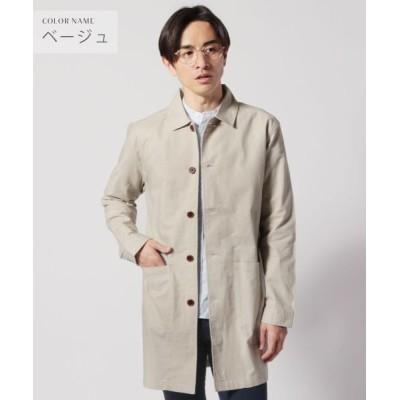 【ザ カジュアル】 (スプ) SPU 綿麻ストレッチステンカラーコート メンズ ベージュ M THE CASUAL