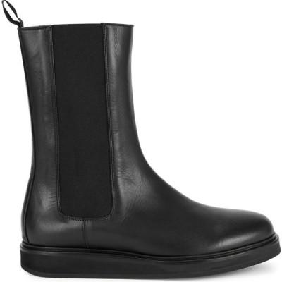 レグレス Legres レディース ブーツ チェルシーブーツ シューズ・靴 black leather chelsea boots Black