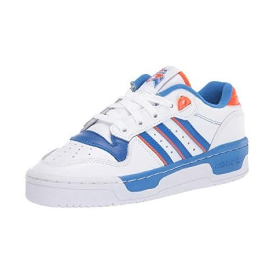 adidas Originals Men's Rivalry Low Sneaker, FTWR White/Blue/Orange, 4.5 M US