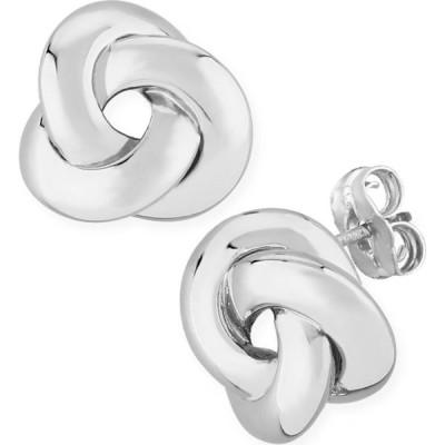 メイシーズ Macy's ユニセックス イヤリング・ピアス スタッドピアス Knife Edge Knot Stud Earrings Set in 14k White Gold White Gold