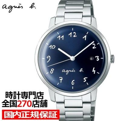 agnes b. アニエスベー marcello マルチェロ FCRK990 メンズ 腕時計 クオーツ メタル シルバー ネイビー 国内正規品 セイコー