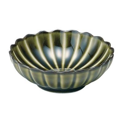 業務用食器 ぎやまん 利休 GREEN 丸小皿 φ9×3�