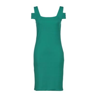 ALESSANDRO LEGORA ミニワンピース&ドレス グリーン 44 レーヨン 100% ミニワンピース&ドレス