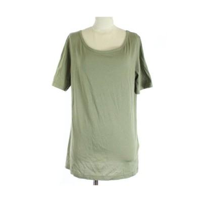 【中古】ワイズ Y's ヨウジヤマモト Tシャツ カットソー 半袖 2 M カーキ /SR レディース 【ベクトル 古着】