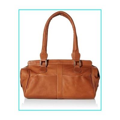 Piel Leather Double Handle Handbag, Saddle, One Size【並行輸入品】