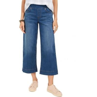 スタイル&コー Style & Co レディース ジーンズ・デニム ワイドパンツ クロップド ボトムス・パンツ Wide-Leg Pull-On Cropped Jeans Hayden
