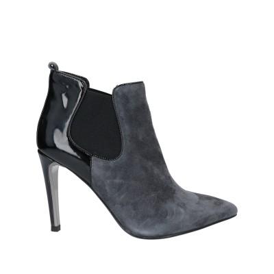 LUCIANO BARACHINI ショートブーツ スチールグレー 36 革 / 紡績繊維 ショートブーツ