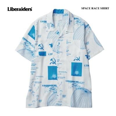 Liberaiders リベレイダース トップス シャツ SPACE RACE SHIRT アロハシャツ 総柄シャツ レーヨンシャツ 半袖シャツ