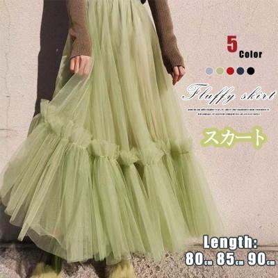 1MD078-*新色追加ベロアチュールが可愛い❁今季注目❁のペールカラーチュールプリーツスカート ベロアスカート パールベロア素材 韓国ファッション プリーツスカート/チュールスカート